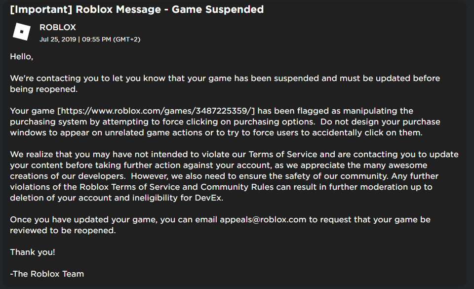 What Is Considered Manipulating The Purchasing System By - roblox how to private message in game